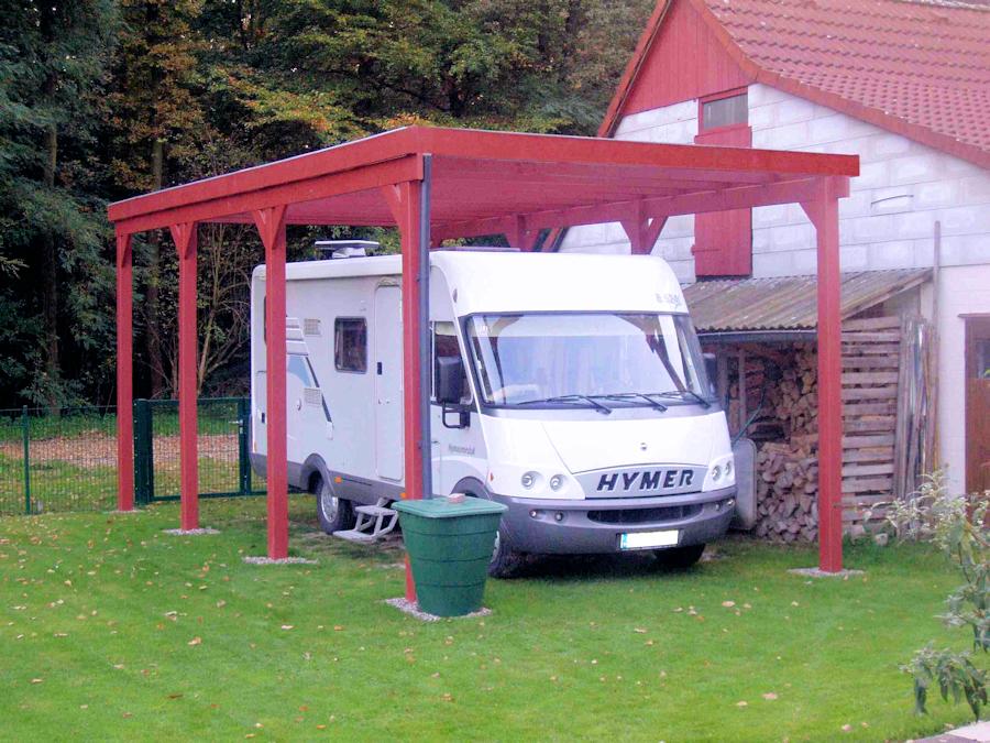 HD Wohnmobil Holzcarport - das günstige Carport für Wohnmobile