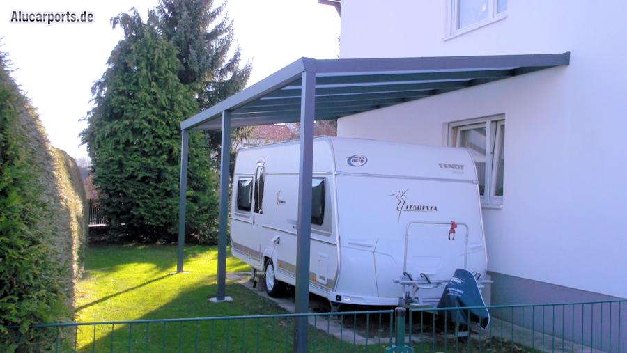 Aluminium Anbaucarport in erhöhter Variante für Caravan