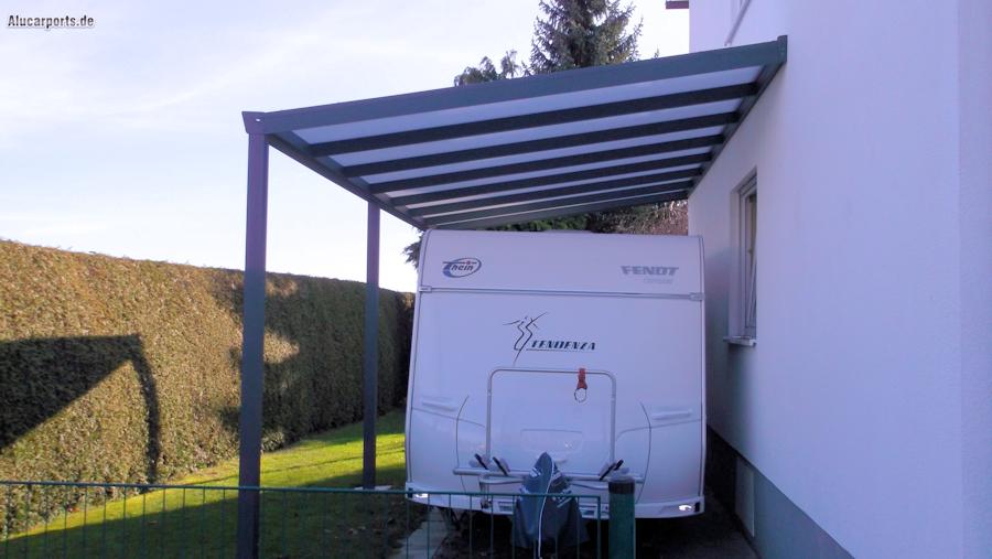 Aluminium Caravan-Anbaucarport in Anthrazit