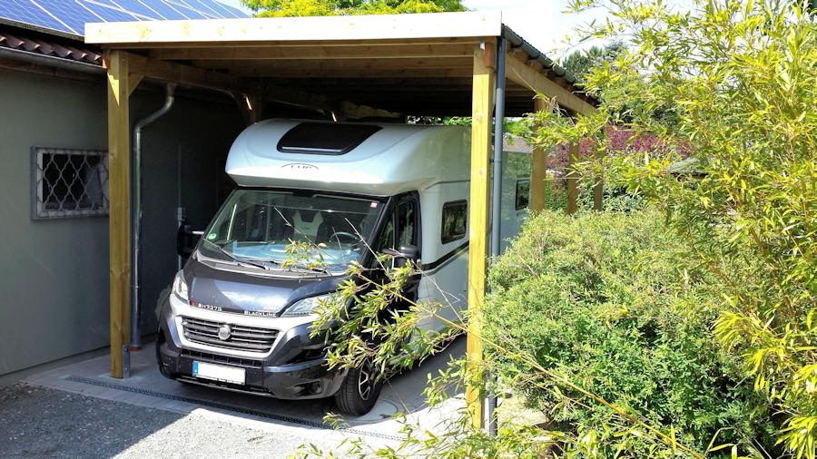Günstiges Carport für Wohnmobil