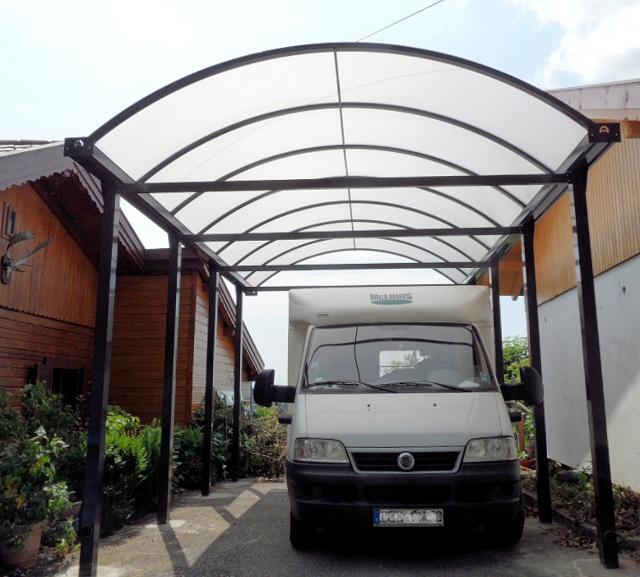 Carport 4x8m mit hoher Schneelast für Wohnmobile