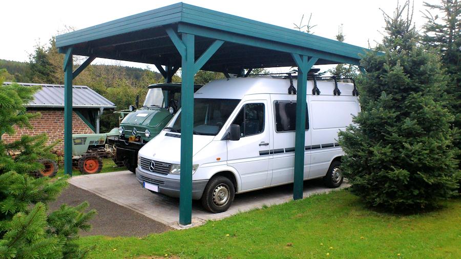 Doppelcarport Holz für Wohnmobile