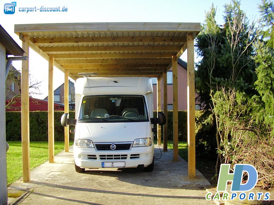 Holzcarport 4 x 8m für Wohnmobil
