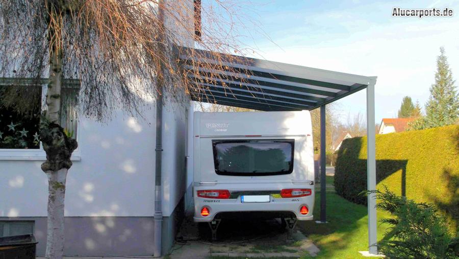 Anbaucarport aus Aluminium für Wohnmobil
