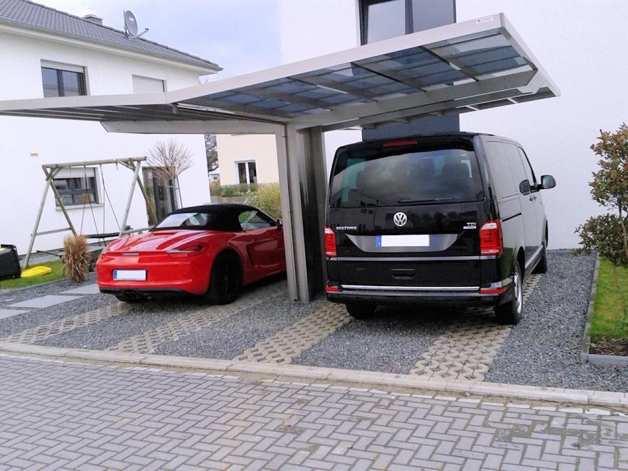 AluPort Monaco Doppelcarport mit VW-Bus