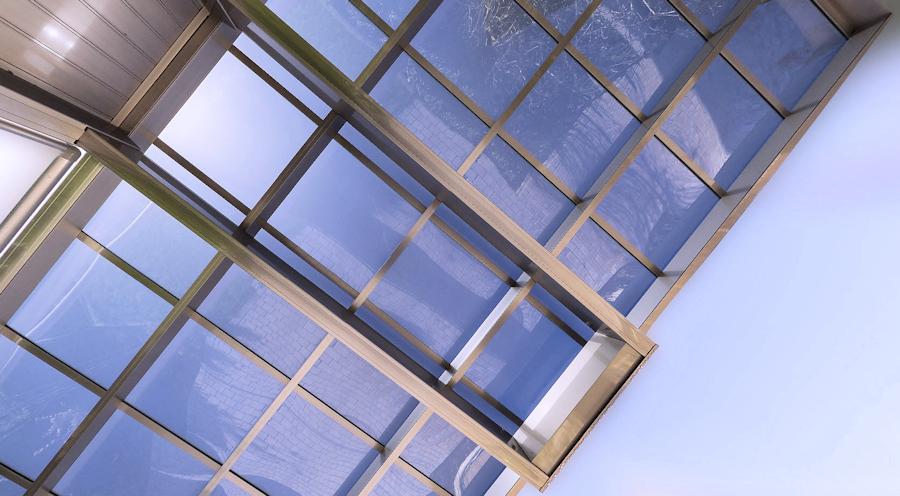 Konstruktion Dachuntersicht AluPort Monaco Designcarport
