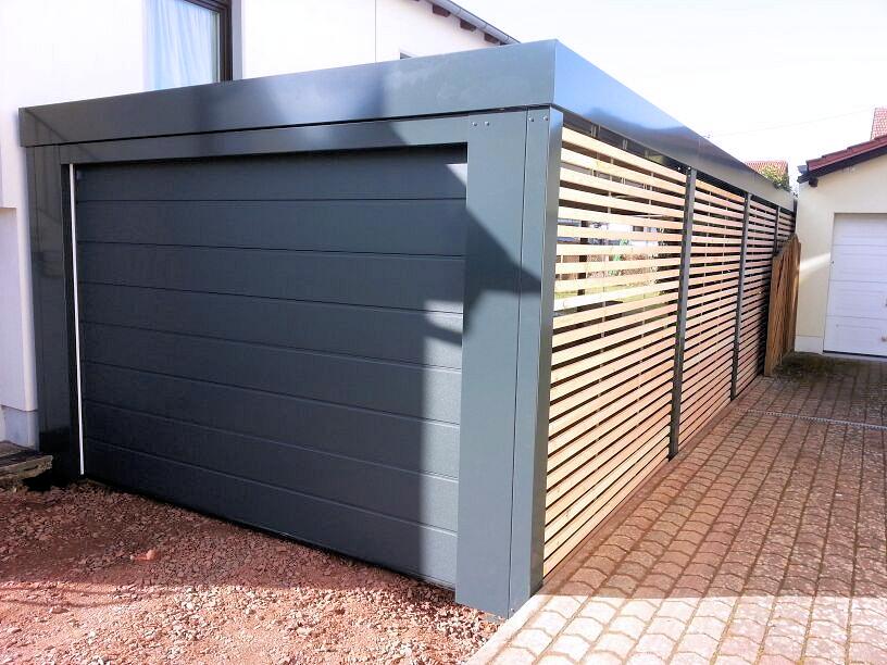 Carport Metall mit Garagentor